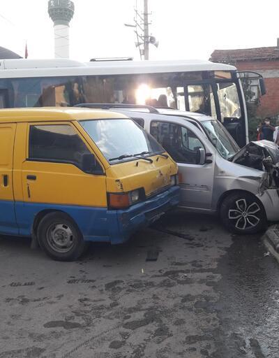 Direksiyonda kalp krizi geçiren sürücü kaza yaptı