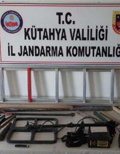 Kütahya'da kaçak kazı yapan 2 şüpheli yakalandı