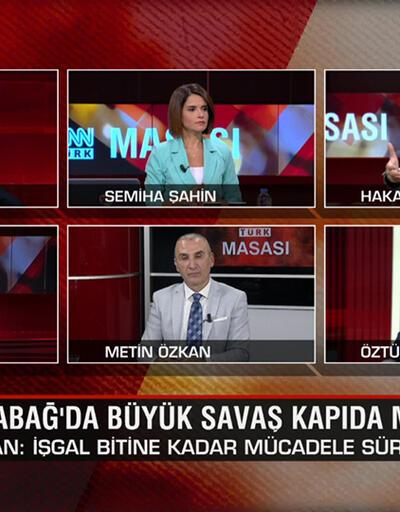 """Karabağ'a """"300 cihatçı gitti"""" mi? Büyük savaş kapıda mı? Macron Türkiye'den ne istiyor? CNN TÜRK Masası'nda ele alındı"""