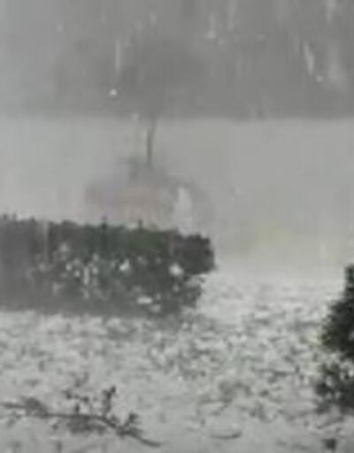 Son Dakika: Dolu bitti hasarı kaldı   Video