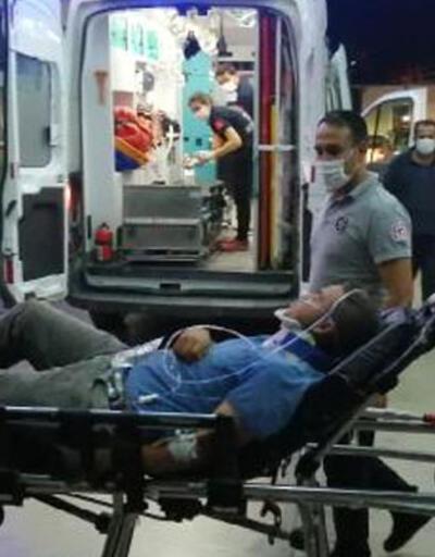 Biçerdöver devrildi: 2 yaralı