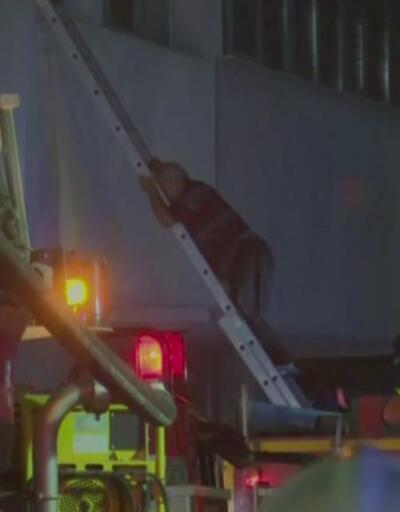 Hastanede yangın paniği | Video