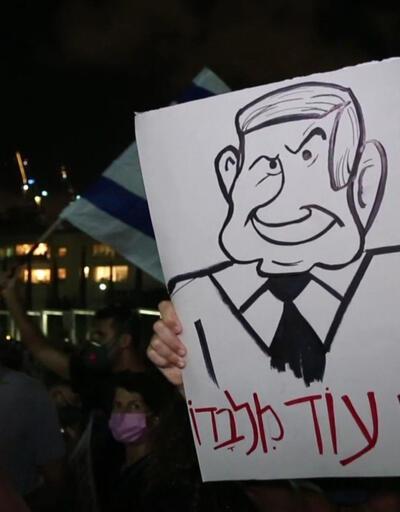 """Son dakika... İsrail'de """"istifa"""" sloganları   video"""