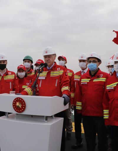 Cumhurbaşkanı Erdoğan'dan Tuna-1 kuyusunda bulunan doğal gaz rezervine ilişkin paylaşım
