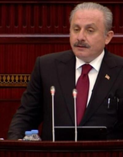 Şentop, Azerbaycan Milli Meclisi'ne seslendi
