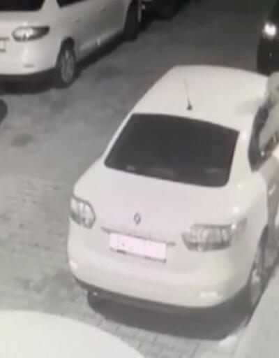 Otomobillerin camlarını kıran hırsız kamerada   Video