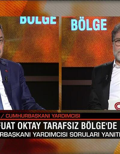 Cumhurbaşkanı Yardımcısı Fuat Oktay, gündemdeki bütün konuları Tarafsız Bölge'de değerlendirdi