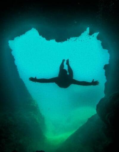 Girişi kalp şeklinde 'aşk mağarası'