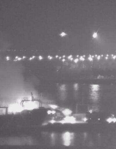 İstanbul'da gemide yangın