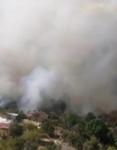 Son dakika.. Mersin'deki yangın yerleşim yerlerini tehdit ediyor