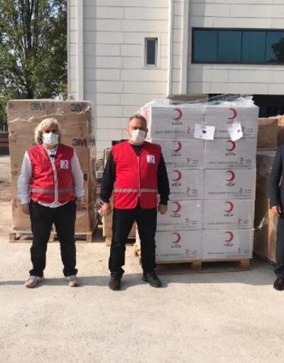 150 bin adet koruyucu sağlık malzemesi yardımı yapıldı