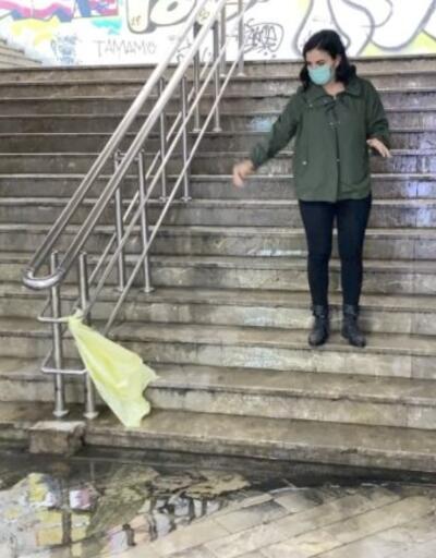 Etkili yağmur nedeniyle alt geçitleri su bastı | Video