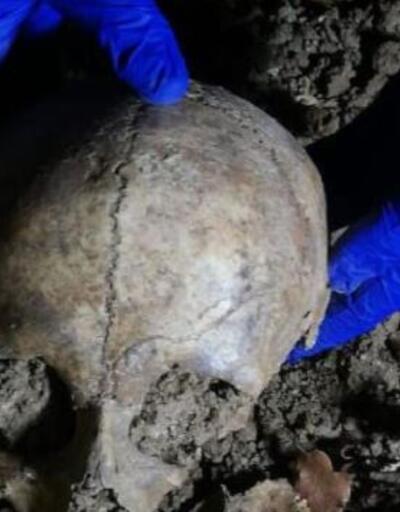 Yol çalışması sırasında insan kemikleri bulundu