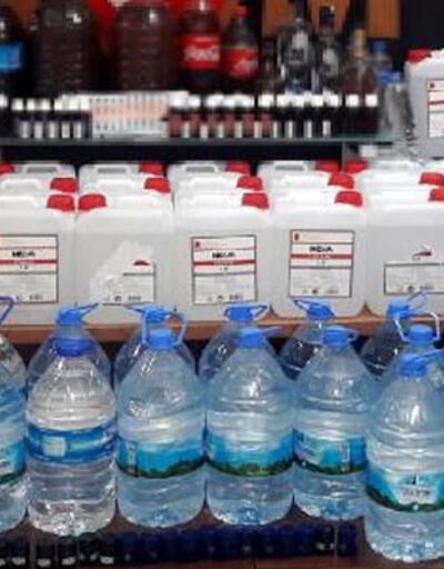 Salihli'de sahte içki operasyonu: 4 gözaltı
