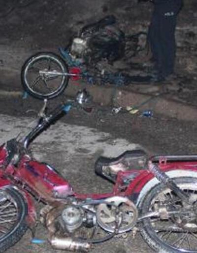 Manisa'da 2 motosikletin kundaklandığı iddiası