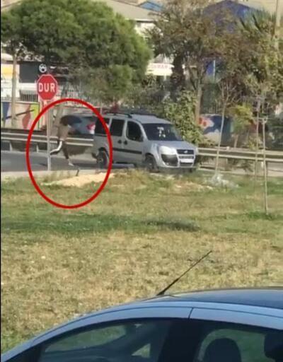 İzmir'de tepki çeken görüntü! Sürücüler şaştı kaldı
