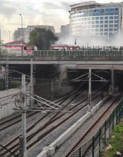 Yangın nedeniyle Marmaray seferlerinde aksama