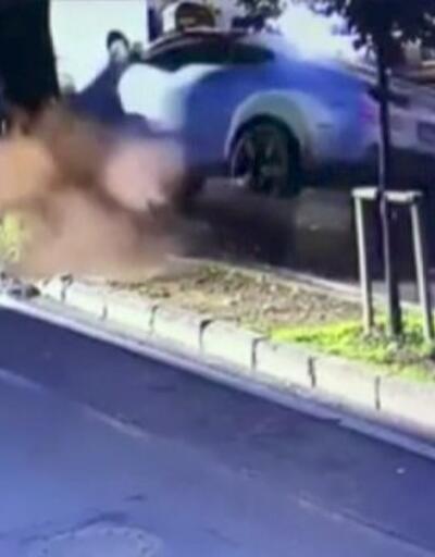 Enes Batur Etiler'de aracıyla takla attı | Video