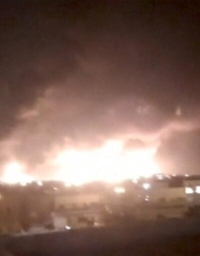 Suudi devlet petrol şirketi vuruldu, yangın çıktı   Video