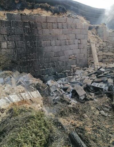Kayseri'de ahır yandı, 7 büyükbaş telef oldu