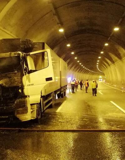 Bolu Dağı tüneli İstanbul istikameti ulaşıma kapatıldı
