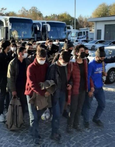2 otobüste 78 kaçak göçmen yakalandı