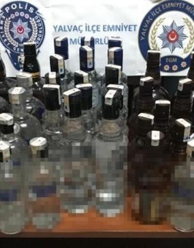 Yalvaç'ta kaçak içki operasyonu