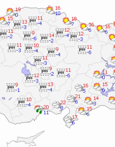 30 Kasım Pazartesi hava durumu tahminleri