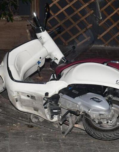 Engin Günaydın'ın motosikleti devrildi