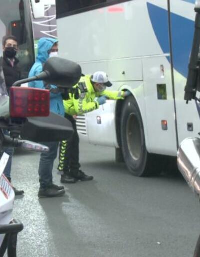 İstanbul'da uzun yol otobüsleri kontrol edildi | Video
