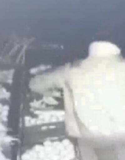 100 kiloluk kasayı forkliftle çaldılar | Video