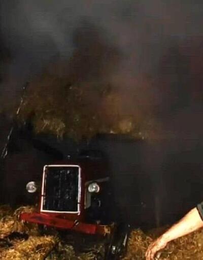 Ferizli'de samanlık yandı