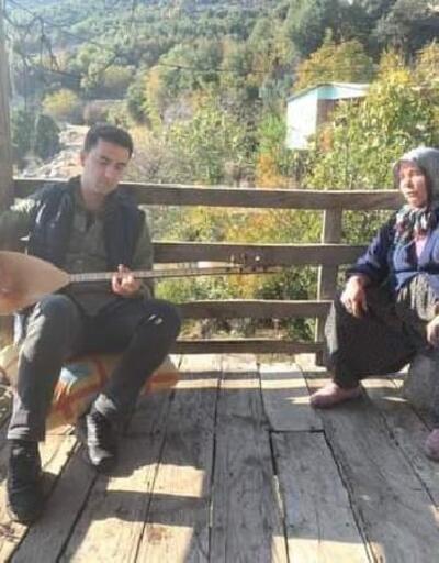 Kaymakam Kaya'dan Selvinaz Teyze'ye sazlı ziyaret