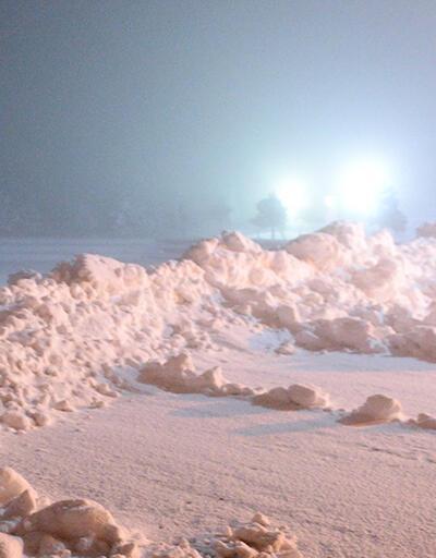 Çamlıbel geçidinde kar çilesi   Video
