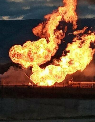 İran'da petrol boru hattında yangın
