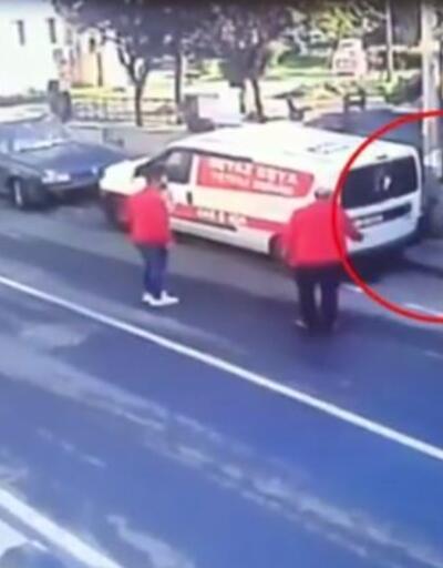 Önce arabanın camlarını kırdı sonra ruhsata el koydu   Video