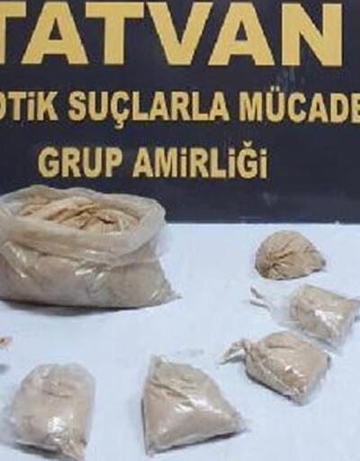 Tatvan'da 3 kilo 865 gram eroin ele geçirildi