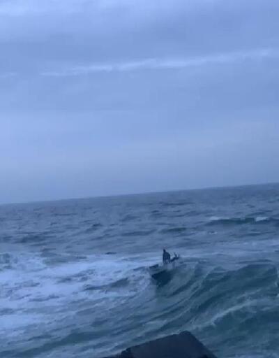 Şile'de teknenin alabora olduğu anlar kamerada   Video