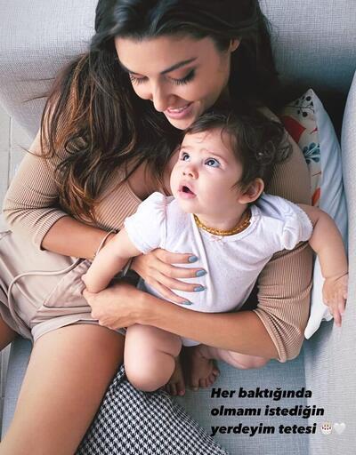Hande Erçel yeğeni Aylin Mavi'nin doğum gününü böyle kutladı: Özgür kız Mavi