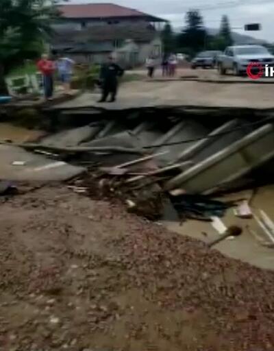 Son Dakika! Brezilya'da sel felaketi: 10 ölü   Video
