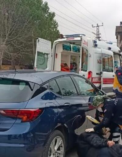 Bisikletiyle otomobile çarparak yaralandı