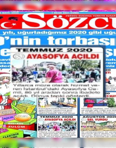 Sözcü Gazetesi'ne Ayasofya tepkisi   Video