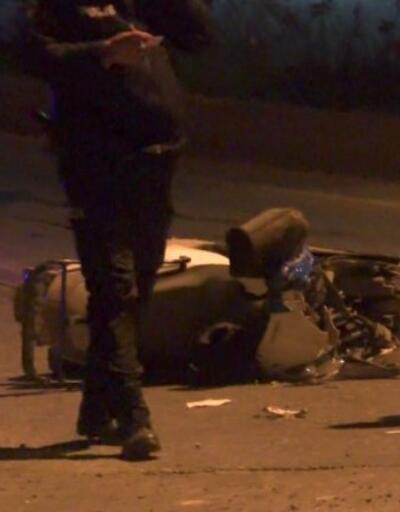 Kamyon motosiklete çarptı | Video