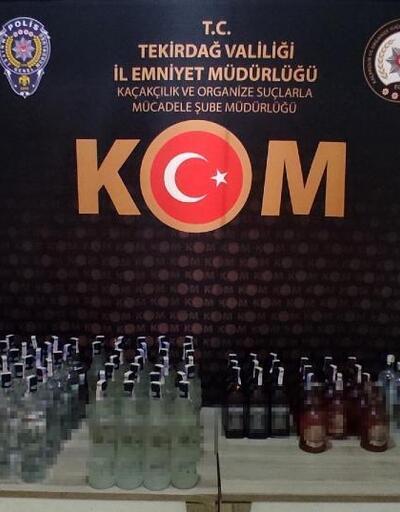 Tekirdağ'da 83 şişe kaçak içki ele geçirildi