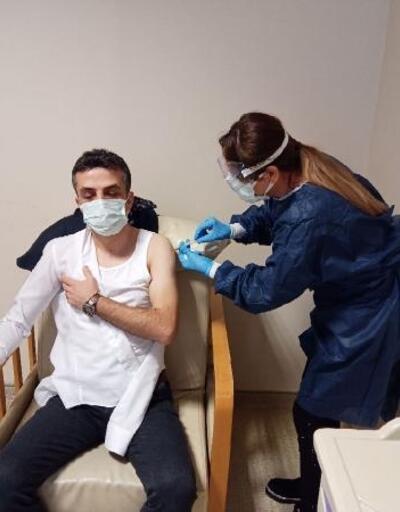 Amasya'da Covid-19 aşısı yapılıyor