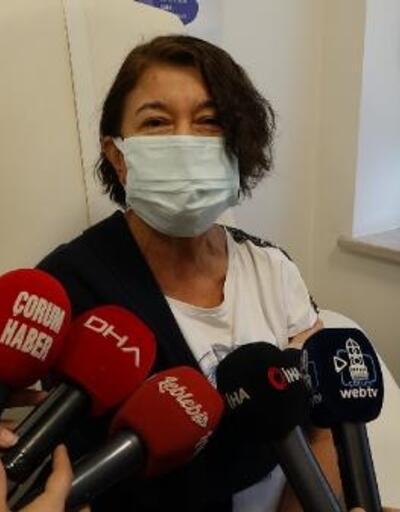 Çorum'da sağlıkçılara aşı yapıldı