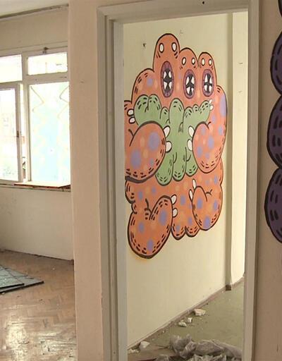 Metruk bina sanatla buluştu | Video