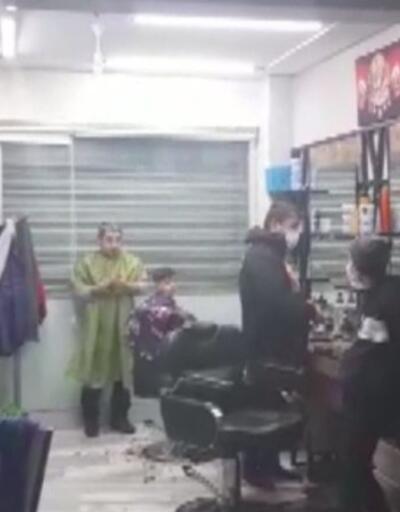 Ekiplere aldırış etmeden tıraşa devam etti | Video
