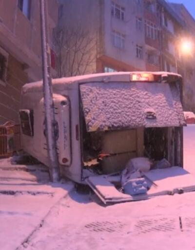 Kar, kazaları beraberinde getirdi | Video