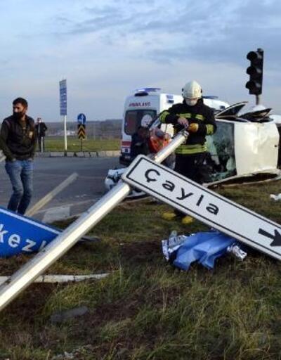 Tekirdağ'da iki otomobil çarpıştı: 5 yaralı